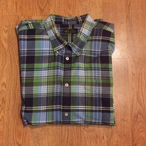 Like New Orvis Signature Collection Plaid  Shirt